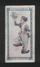 Collectible Charlie Chaplin movies old 1920 trade card insert #5